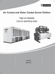 blue star chiller air u0026 water cooled chiller r22 dx manual
