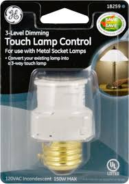 ge 18259 touch lamp control 3 level dimming for use with metal
