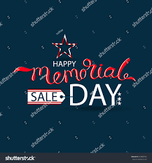 id card sle template vector happy memorial day card sale stock vector 624890792