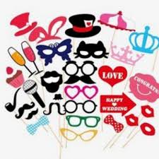 photobooth props 31pcs photo booth props party wedding with chagne microphone