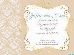30 ans mariage invitation anniversaire 30 ans déco florale dorée 123 cartes