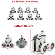 8pcs bottom shower door wheels replacement glass door rollers