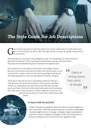How To Write Resume Job Description by How To Write Job Descriptions