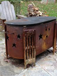 repurposed oil tank fire pit repurposed pinterest repurposed