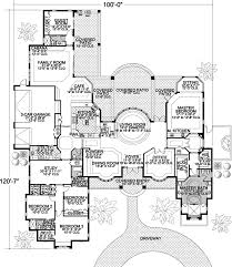 5 bedroom 1 story house plans contemporary style house plans 5318 square foot home 1 story