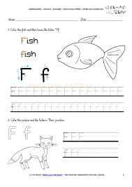 alphabet tracing worksheets how to write letter f