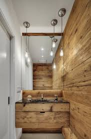 bathroom traditional wooden made furniture and simple fixtures