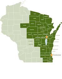 Kenosha Wisconsin Map by Our Service Area Feeding America Eastern Wisconsin