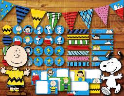printable snoopy birthday decoration peanuts