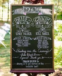 Chalkboard Wedding Program Template Cute Idea For Your Reception Bubba U0026 Amanda U0027s Wedding