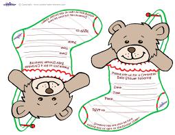 Christmas Baby Shower Invitations - printable teddy bear stocking baby shower invitations