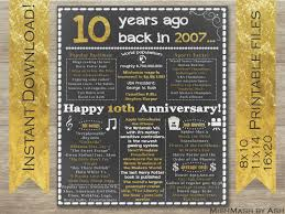 10th anniversary gift 10th anniversary gift ideas 10th anniversary poster 10th