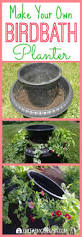 this easy birdbath planter projects in a beautiful way to attract