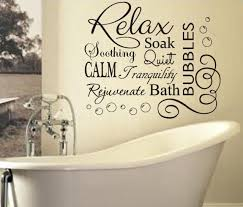 soak u0026 relax vinyl bubbles bath quote large vinyl bathroom wall