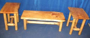 Pine End Tables Crafted Knotty Pine Coffee Table And End Tables By Fbt
