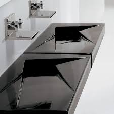 bathroom trough sink with 2 faucets best faucets decoration