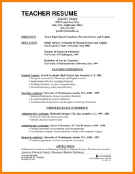 Sample Resume For Science Teachers by 8 Sample Of Curriculum Vitae For Teachers Handy Man Resume