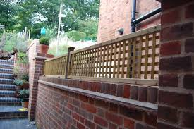 lattice trellis fixed on brick wall edwardian house project