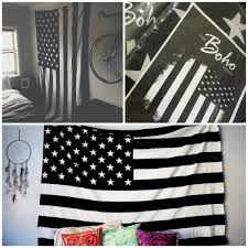 White American Flag Exclusive 100 Cotton Black And White Vintage American Flag