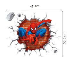 Superman Boys Room by 3d Cartoon Poqiang Superman Spiderman Wall Stickers Adhesive For