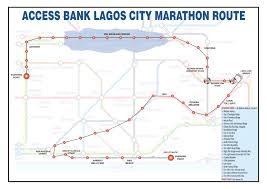 Route Map by Routes U0026 Maps U2013 Access Bank Lagos City Marathon 2017