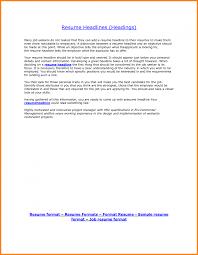 cover letter resume headline samples resume headline examples for