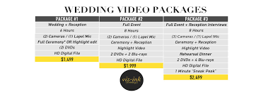 wedding videography prices vizink weddings