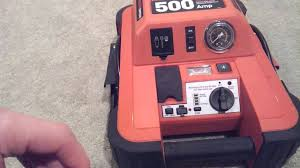 black and decker jus500ib 1000 peak amps jump starter with built