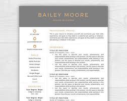 Modern Resume Format Professional Resume Template Cv Template Mac Or Pc