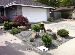 Rock Garden Florida Japanese Style Mini Rock Garden Gravel Base Growing Shrubs