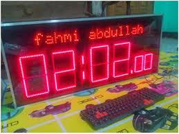 membuat jam digital led besar mikrokontroler aplication jam digital besar