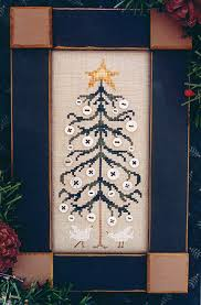 the thread button tree the cross stitch pattern