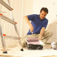 a 6 step guide to paint removal from a basement floor