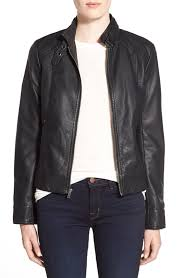 leather moto jacket and cashmere u0027brooklee u0027 faux leather moto jacket nordstrom