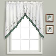 Green Kitchen Curtains Blue Swag Curtains Decorate Your Navy Blue Valance Design Ideas