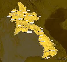 Map Of Laos Laos