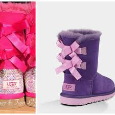 ugg womens bow boots best bailey bow bling ugg boots products on wanelo