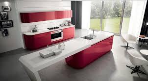 Futuristic Kitchen Designs Lacquered Modern Kitchen Cabinet Grey Cement Flooring Futuristic