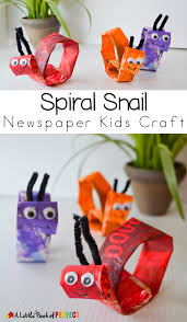 spiral snail newspaper kids craft