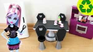 Barbie Dining Room Set How To Make A Fangtastic Doll Dining Room Table U0026 Chair Set Doll