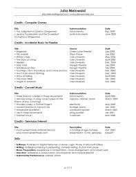 Audition Resume Template Musician Resume Sample Musical Theater Audition Resume Template