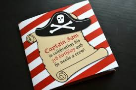 themed invitations custom pirate themed invitations kaye s partymakers