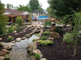 Aquascape Water Features Louisville Backyard Koi Pond Landscape Traditional With Fire Pits