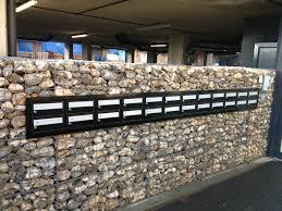 low cost gabion letterbox stone wall cheaper than block stone
