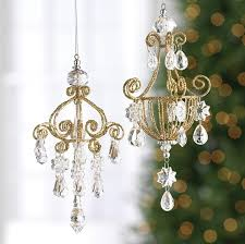 chandelier ornaments set of 2 shelley b home and