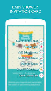 baby shower invitation card android apps on google play