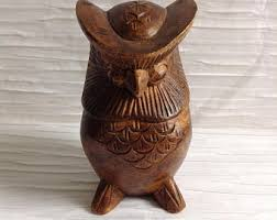 owl sculpture etsy