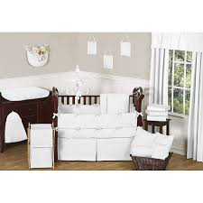 Minky Crib Bedding Sweet Jojo Designs Minky Dot 9 Crib Bedding Set In White