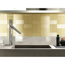 champagne long grain metal tile peel and stick backsplash for