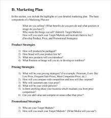 marketing business plan template sample marketing business plan